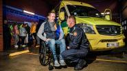 """Erwin bedankt hulpverleners die zijn leven redden na zwaar ongeval: """"Zonder deze helden was ik er niet meer geweest"""""""