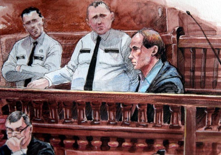 Rechtbankschets van beschuldigde Tijl Teckmans.