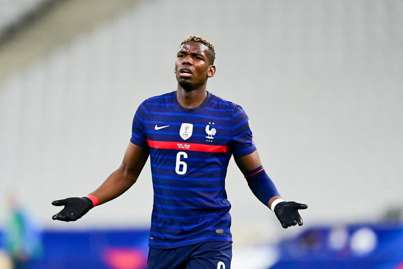 Paul Pogba bij de Franse nationale ploeg.