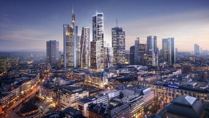 Het ontwerp van UNStudio bestaat uit vier kenmerkende torens, waarvan de hoogste 228 meter hoog.