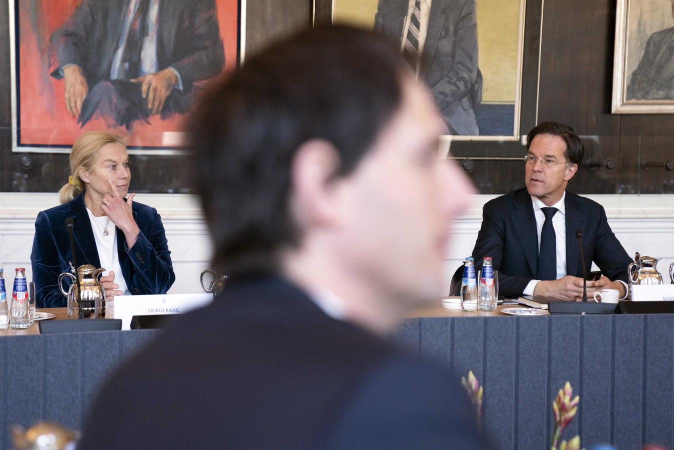 Van links naar rechts: Sigrid Kaag (D66), Wopke Hoekstra (CDA) en Mark Rutte (VVD).