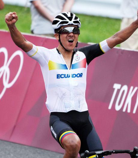 Carapaz bezorgt Ecuador zeldzame gouden medaille, Mollema net naast het podium