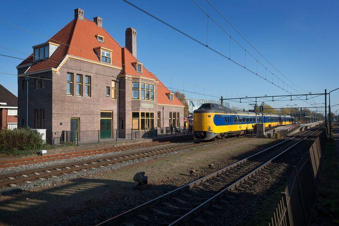 Het gerenoveerde treinstation Gilze-Rijen.