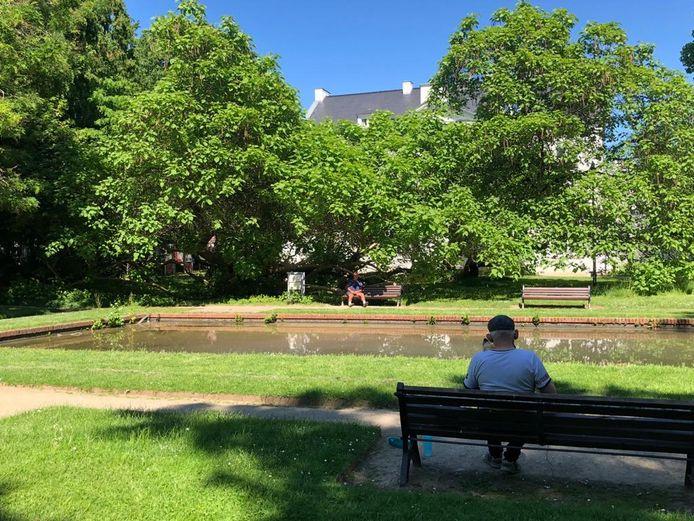 Het stadspark van Tienen.