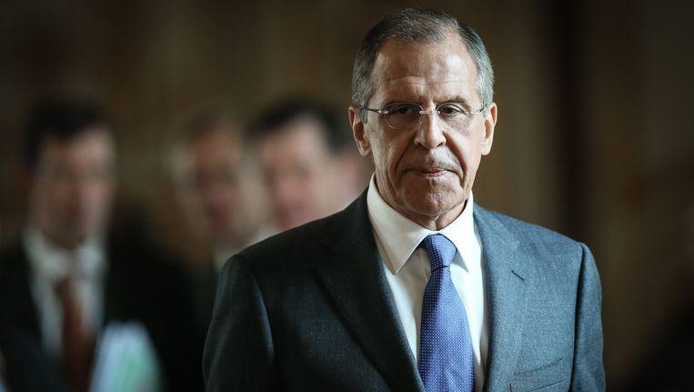 De Russische minister van Buitenlandse Zaken Lavrov. Beeld EPA