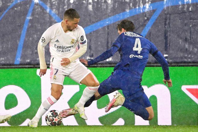 Hazard tegen Chelsea.
