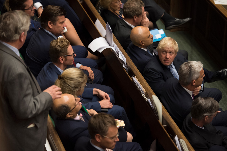 De Britse premier Boris Johnson vond gisteren onvoldoende steun in het lagerhuis.