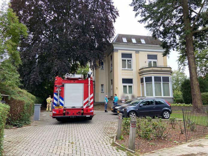 De brandweer rukte uit voor de keukenbrand in Arnhem