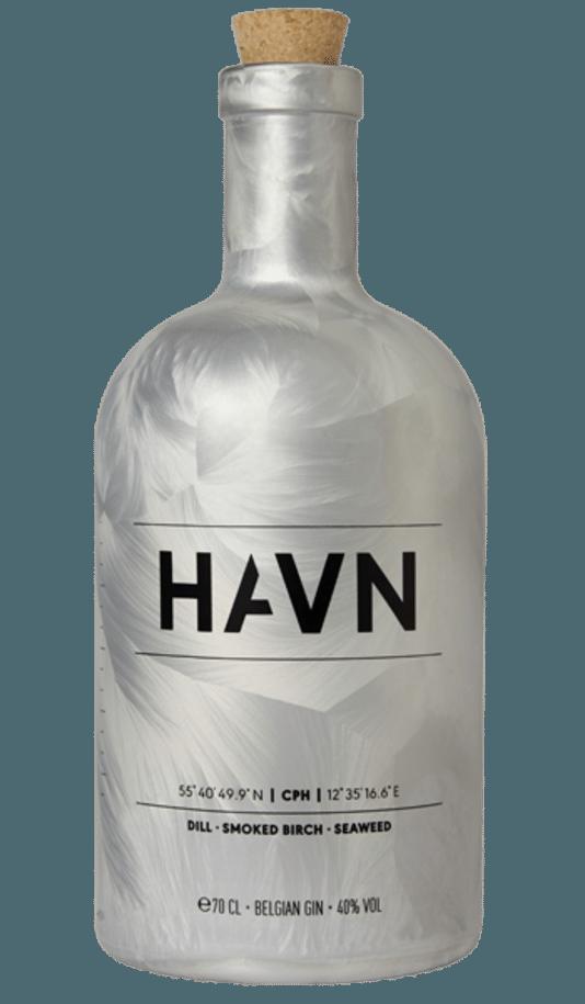 Une jolie bouteille de Gin de la marque belge Havn. Prix: 57 euros.