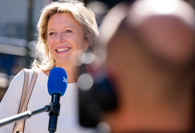 Minister Kajsa Ollongren zegt zich niet druk te maken. Beeld ANP