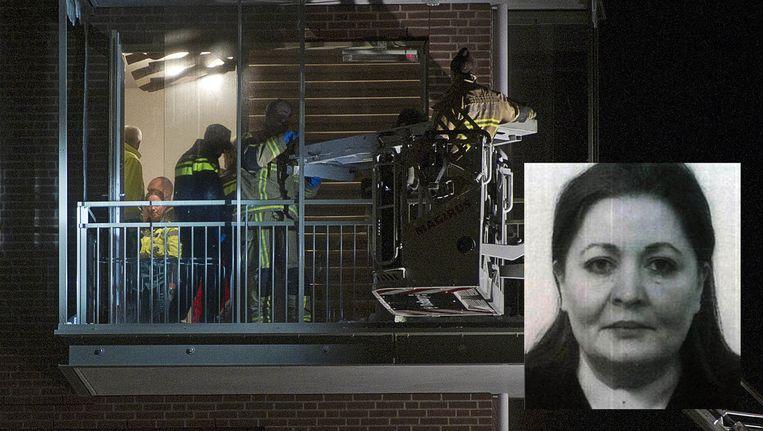 Beyhan Demirci werd vanaf de galerij doodgeschoten terwijl ze een sigaret rookte op haar balkon Beeld ANP/Politie