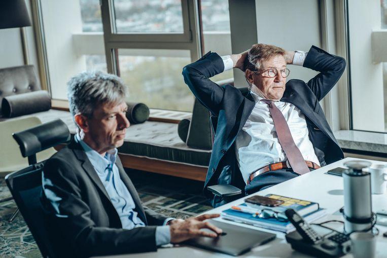 Dubbelinterview Geert Noels & Johan Van Overtveldt Beeld Thomas Sweertvaegher