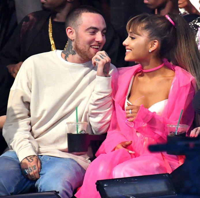Mac Miller en Ariana Grande tijdens hun relatie.