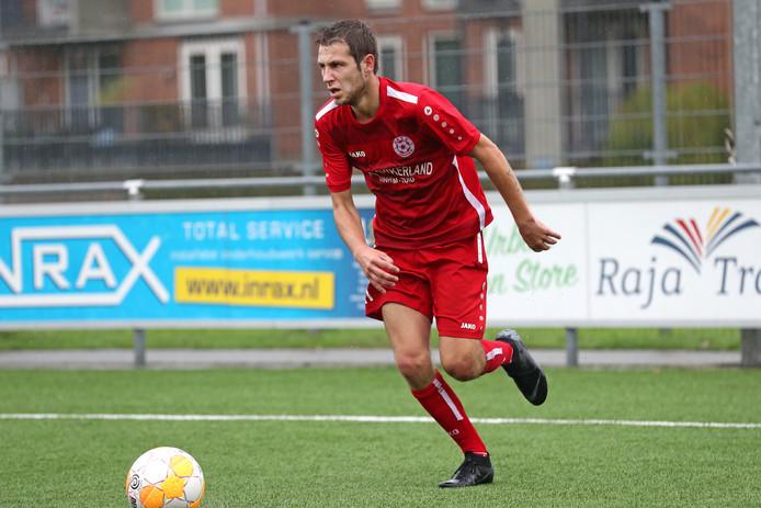 Angelo Siep van MASV scoorde zondag tegen Concordia Wehl opnieuw.