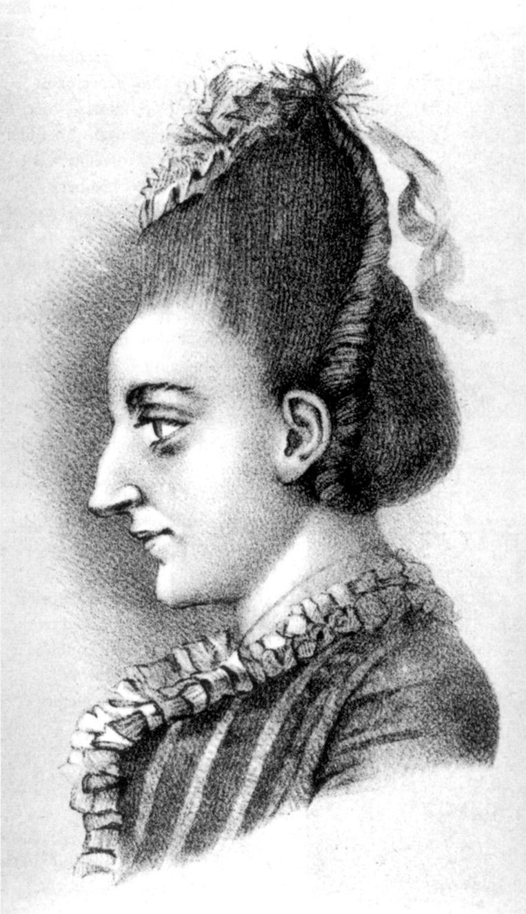 Johann Wolfgang von Goethe tekende zijn zus Cornelia Beeld -