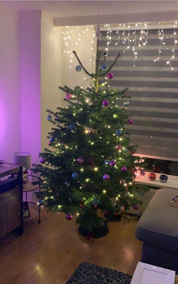 De verlichte boom van Mark Hendriks heeft een mooie plek in de woonkamer. 'Onze kerstboom staat al sinds 25 november. Kerst verbindt en brengt geluk', zegr Mark Hendriks.