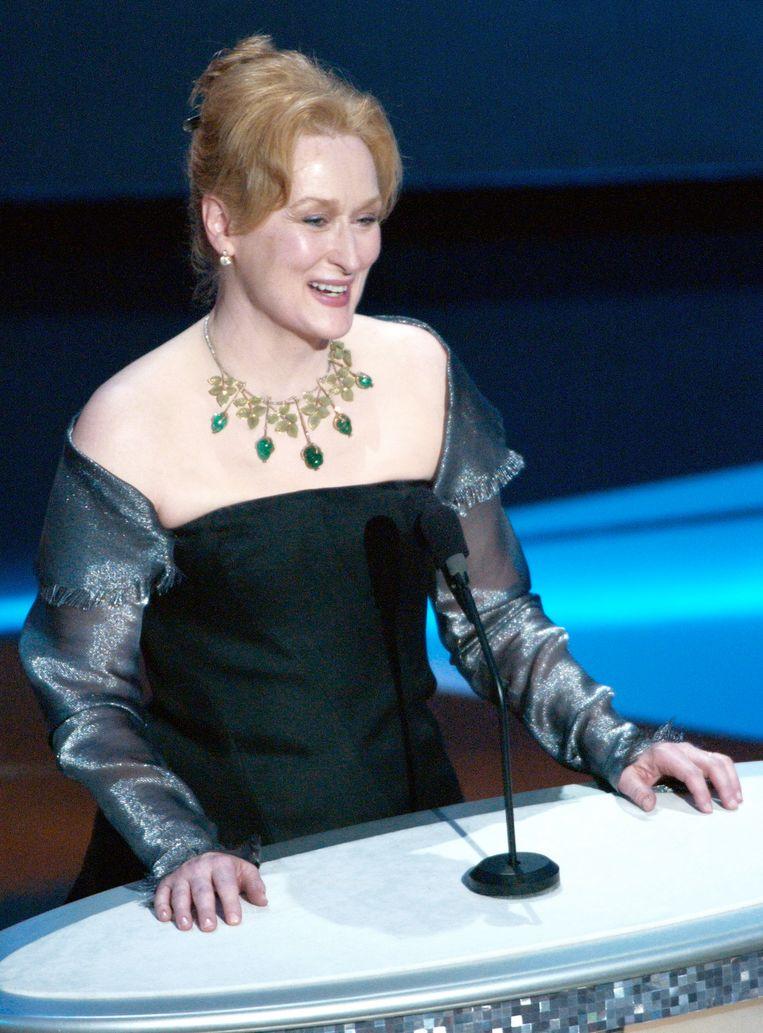 Meryl Streep reikte de award uit aan Peter O'Toole in 2003. Ze was toen voor de verandering eens niet genomineerd.
