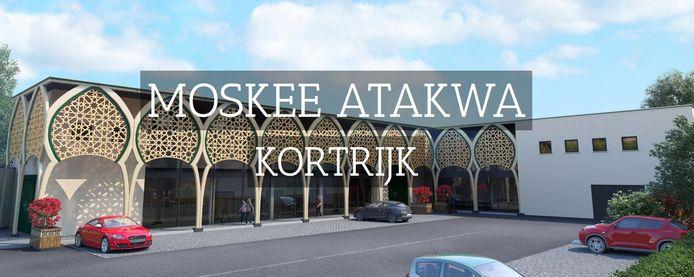Een blik op de nieuwe moskee