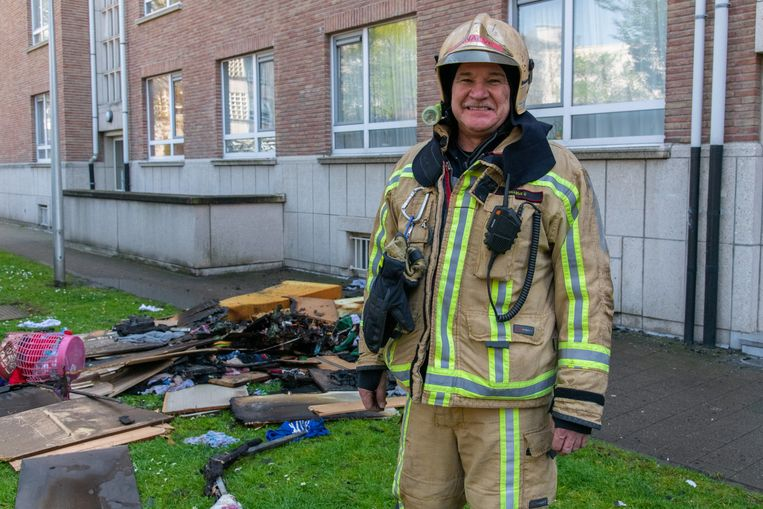 Chris Sinnaeve moest op zijn laatste werkdag nog uitrukken naar een uitslaande brand op het Kiel.