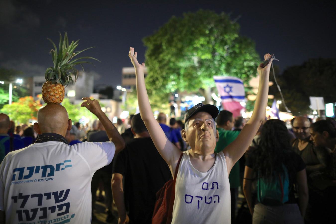 Demonstranten in Tel Aviv, Israël.