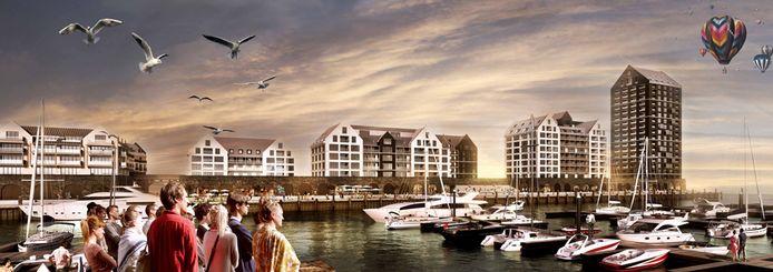 Een impressie van het Havenplan Breskens.