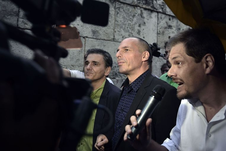 Minister van Financiën Yanis Varoufakis. Beeld AFP