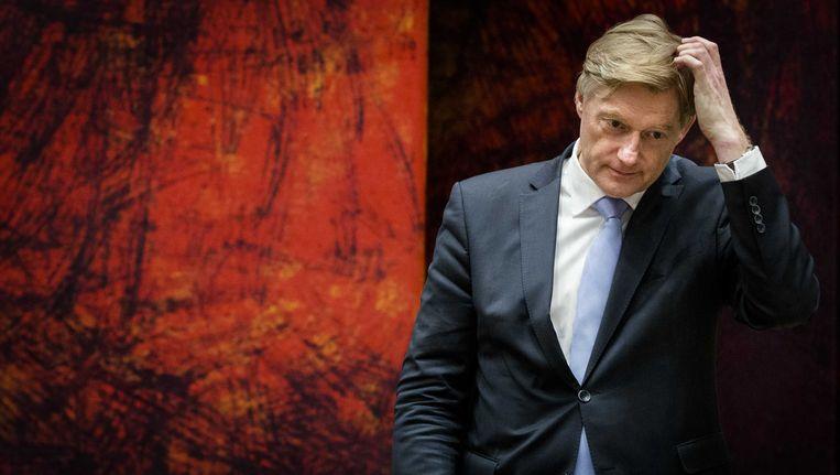 Staatssecretaris Martin van Rijn (Volksgezondheid) tijdens een debat over de betalingsproblemen rond het persoonsgebonden budget (pgb). Beeld ANP