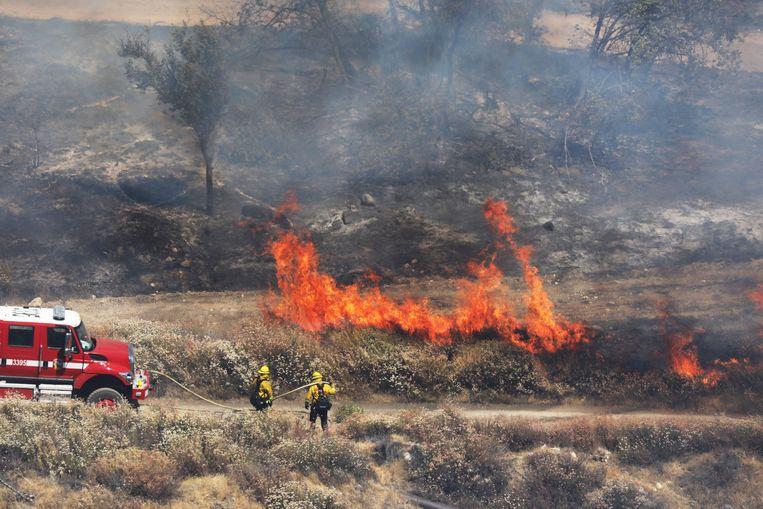 De 'Apple Fire' dichtbij Beaumont. Beeld EPA