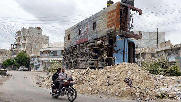 Syrische burgers in Aleppo. Beeld AFP