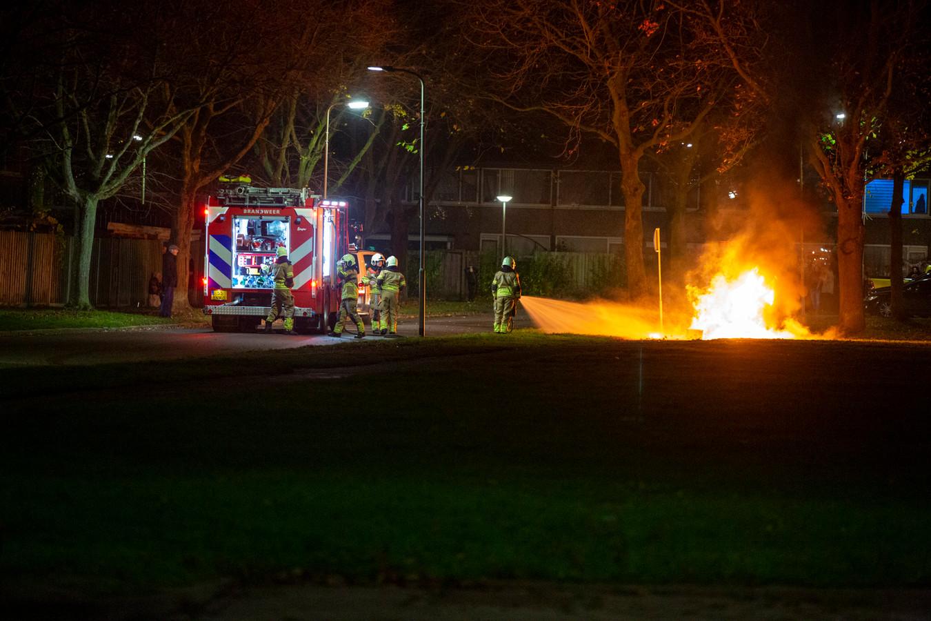 De brandweer moest uitrukken om branden te blussen in Roosendaal.