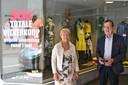 Marie-Christine Debruyne (67) en Jean-Paul Castelein (68) van damesboetiek Couture Novelty.