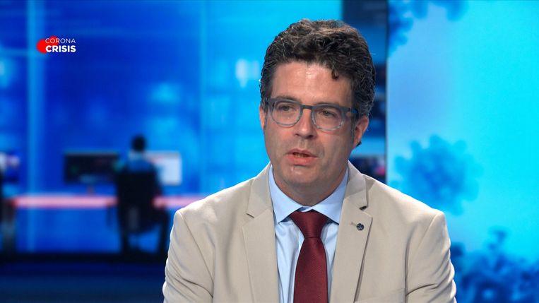 Viroloog Steven Van Gucht Beeld VTM NIEUWS