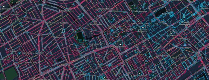 TU Delft onderzocht hoe breed de stoepen in Den Haag zijn.