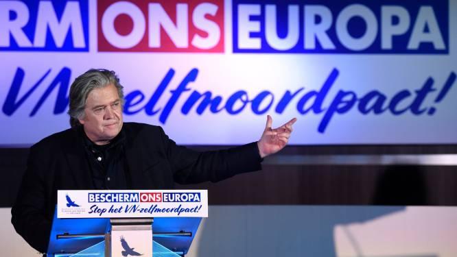 """Steve Bannon, ex-strateeg van Trump, preekt de populistische revolutie: """"Liever gele hesjes aan de macht dan deze politieke elite"""""""