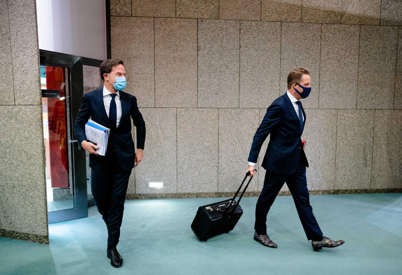Mark Rutte en Hugo de Jonge: volgende week weer een persconferentie?