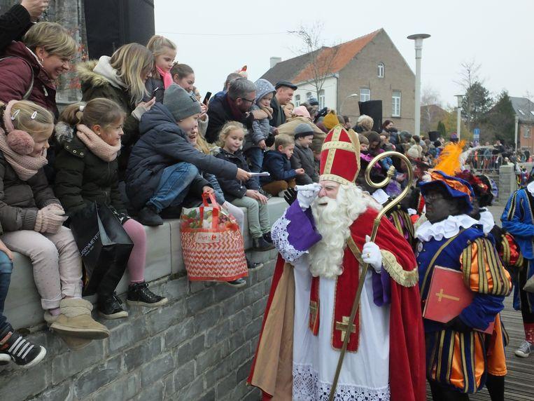Sinterklaas is altijd te vinden voor een grapje.