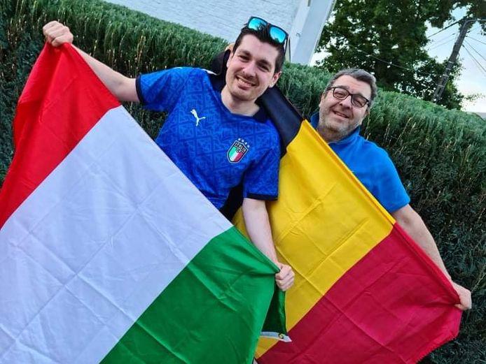 Lucas et Franco Gizzi, parties prenantes de l'ASBL Viale à Charleroi, ne manqueront pas le quart de finale de l'Euro entre la Belgique et l'Italie ce vendredi soir