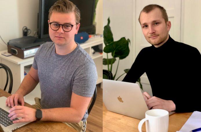 De initiatiefnemers van The FAC: links Stijn van der Vat, rechts Tjibbe Steenstra