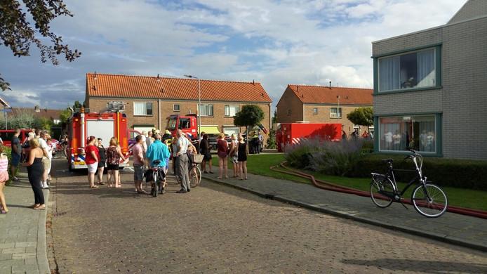 Brand in de Willem Kosterlaan in Krabbendijke.