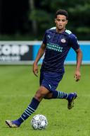 Mohamed Ihattaren tijdens een oefenduel met FC Eindhoven, vorige week.