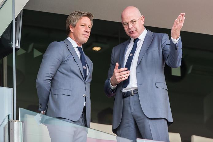 Toon Gebrands (rechts) met technisch manager Marcel Brands.