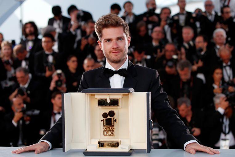 Regisseur Lukas Dhont op het Filmfestival van Cannes, eerder dit jaar. Beeld EPA
