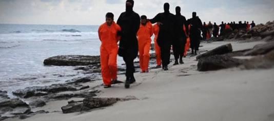 Egyptische christenen werden begin dit jaar geëxecuteerd door IS-strijders in Libië