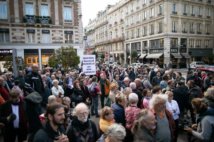 Ook vandaag was er protest in de stad, waarmee bewoners hun ongerustheid willen uitdrukken over de brand.