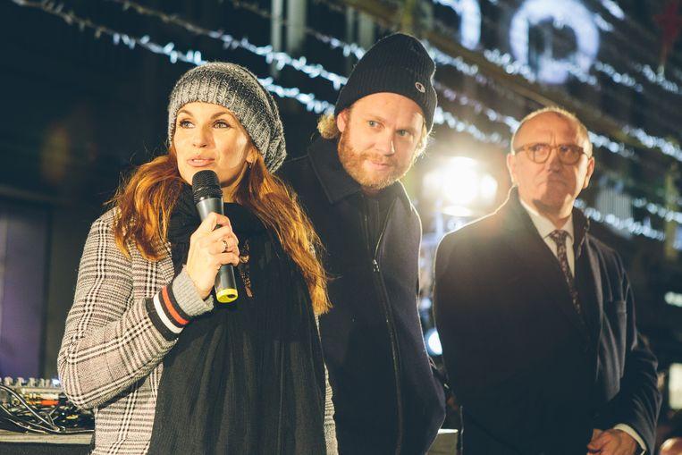 Katja Retsin, Rik Verheye en burgemeester Johan Vande Lanotte