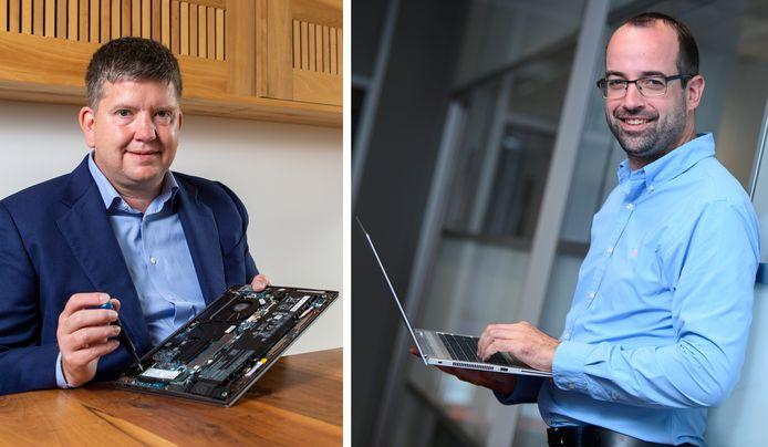 Computerexperts Frank Everaardt (links) en William Nelissen (rechts).