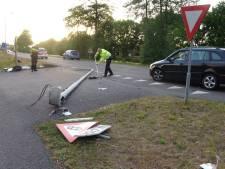 Automobilist richt ravage aan in Meppel