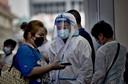 Contrôle du pass sanitaire à la gare de Shanghai, 29 juillet
