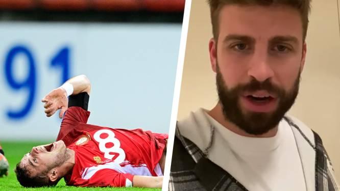 """Je zal sterker terugkeren, my friend"": Barça-verdediger Gerard Piqué wenst Zinho Vanheusden sterkte na zware knieblessure"
