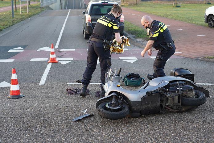 Scooterrijder gewond bij ongeluk Rijen.